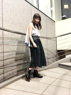 UNITED TOKYO EC|ヒロセさんのシャツ/ブラウス「3wayポンチョブラウス(UNITED TOKYO|ユナイテッドトウキョウ)」を使ったコーディネート