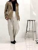 ヒロセさんの「ウォッシャブルテーラードジャケット(UNITED TOKYO ユナイテッドトウキョウ)」を使ったコーディネート