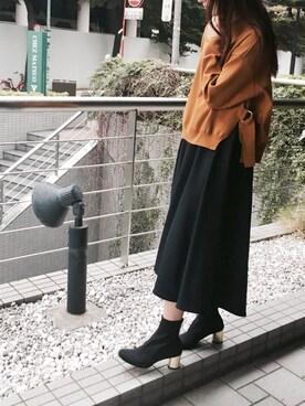 UNITED TOKYO EC|ヒロセさんの「サイドスリットニット(UNITED TOKYO)」を使ったコーディネート