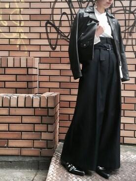 UNITED TOKYO EC|ヒロセさんの「ダブルレザーライダースジャケット(UNITED TOKYO)」を使ったコーディネート