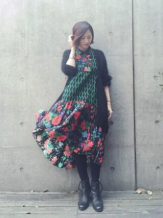 安田美沙子さんの(H&M|ヘンネスアンドモーリッツ)を使ったコーディネート
