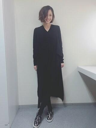 安田美沙子さんの(AKIRA NAKA|アキラナカ)を使ったコーディネート