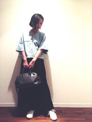 安田美沙子さんの(ELENDEEK|エレンディーク)を使ったコーディネート