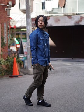 ABAHOUSE 南堀江店|ムラスギリョウさんの「CONVERSE JACK PURSELL SUEDE(ABAHOUSE)」を使ったコーディネート