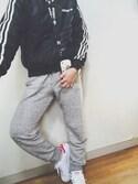 miさんの「adidas アディダスオリジナルス STAN SMITH スタンスミス CG4154 17SP ABC-MART限定 WHITE/WHT/PINK(adidas|アディダス)」を使ったコーディネート