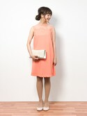 内山陽菜さんの「刺繍切替ドレス(Lily Brown リリー ブラウン)」を使ったコーディネート
