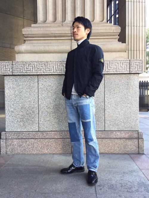 kawaguchiさんの「【STONE ISLAND(ストーンアイランド)】ブルゾン(STONE ISLAND)」を使ったコーディネート