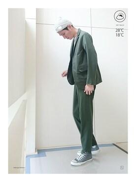 haruさんの「PACKABLE JACKET / パッカブルジャケット(DESCENTE|デサント)」を使ったコーディネート