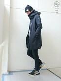 haruさんの「BOA ACTIVE SHELL ALL WEATHER COAT / ボアアクティブシェルオールウェザーコート(DESCENTE ALLTERRAIN|ユニクロ)」を使ったコーディネート