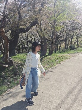 Buhen'nuさんの「【ママとお揃い】フラワー2WAYワンピース(CIAOPANIC TYPY|チャオパニックティピー)」を使ったコーディネート