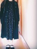 Kさんの「21Wシャツコールドットプリントワンピース(CHILD WOMAN|チャイルドウーマン)」を使ったコーディネート