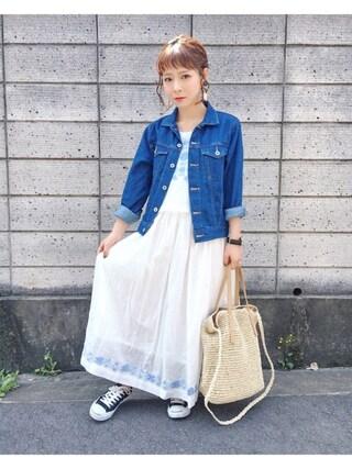 「刺繍セット風マキシワンピース(PAGEBOY)」 using this y u m i . looks