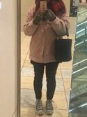り☆ささんの「コーデュロイボアジャケット  742840(Heather|ヘザー)」を使ったコーディネート