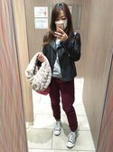 「FOREVER 21 Faux Leather Moto Jacket(Forever 21)」 using this り☆さ looks