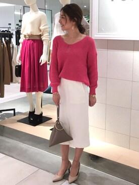 TONAL PR|AOIさんのデニムスカート「デニムタイトスカート(TONAL|トーナル)」を使ったコーディネート