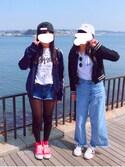 ☆RIM☆さんの「converse コンバース ALL STAR HI オールスター ハイ 3206 RED(US)(CONVERSE コンバース)」を使ったコーディネート