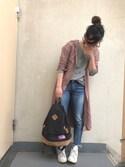 *:)ayaさんの「レーヨン とろみ ロングシャツワンピース(Fashion Letter|ファッションレター)」を使ったコーディネート