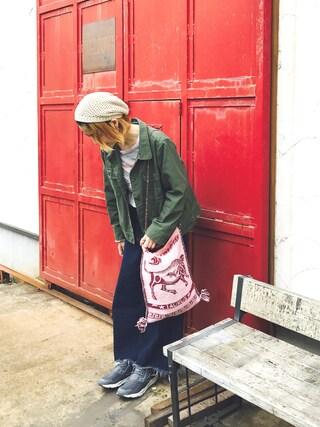 おーちゃかさんの「【30th】ミリタリージャケット(Samansa Mos2 サマンサ モスモス)」を使ったコーディネート