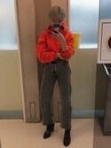 歩美 is wearing Levi's