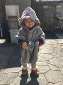 yoyoさんの「かわいいオバケになれるあったかボアポンチョ(フェリシモキッズ|フェリシモキッズ)」を使ったコーディネート