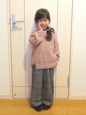 姫まりさんの「リボン付きニット(petit main|プティマイン)」を使ったコーディネート