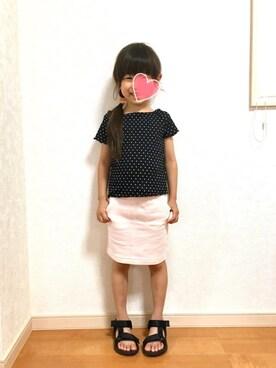 姫まりさんの「膝上タイトスカート(quoti use fith クゥオティ ユース フィス)」を使ったコーディネート