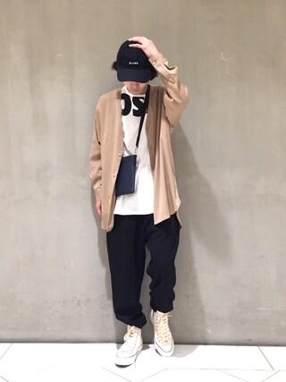 Lui's/EX/stoer難波店|イリザワさんの「Vカーデオーバーシャツ(Lui's|ルイス)」を使ったコーディネート