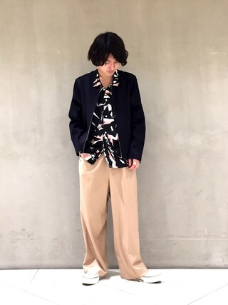 Lui's/EX/stoer難波店|イリザワさんの「オープンカラーシャツ(Lui's|ルイス)」を使ったコーディネート