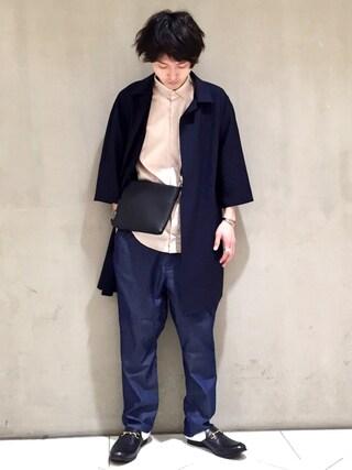 Lui's/EX/stoer難波店|イリザワさんの「7分袖シャツ(Lui's|ルイス)」を使ったコーディネート