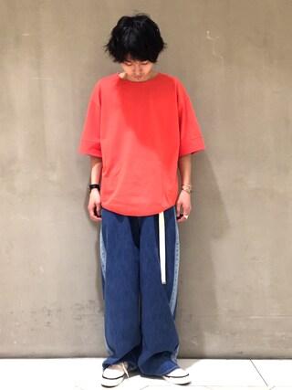 Lui's/EX/stoer難波店|イリザワさんの「ボックスタックポンチTシャツ(Lui's|ルイス)」を使ったコーディネート