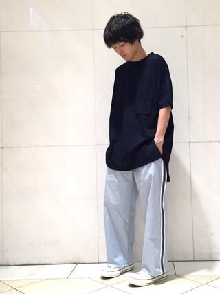 Lui's/EX/stoer難波店|イリザワさんの「スリットビックTシャツ(Lui's|ルイス)」を使ったコーディネート