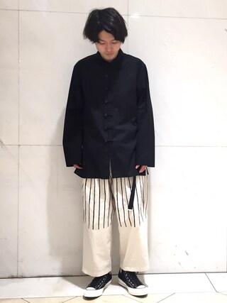 Lui's/EX/stoer難波店|イリザワさんの(Yohji Yamamoto POUR HOMME|ヨウジヤマモトプールオム)を使ったコーディネート