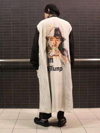 Lui's/EX/stoer難波店|イリザワさんの「タックワイドパンツ(Lui's|ルイス)」を使ったコーディネート