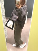 「Balenciaga Leather-Trimmed Canvas Tote(Balenciaga)」 using this Keiko looks