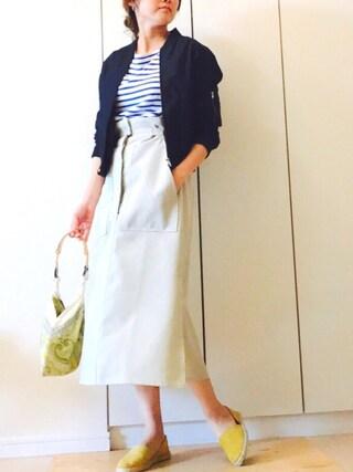NAnaさんの「Khaju:サイドベルトスカート◇(Khaju|カージュ)」を使ったコーディネート