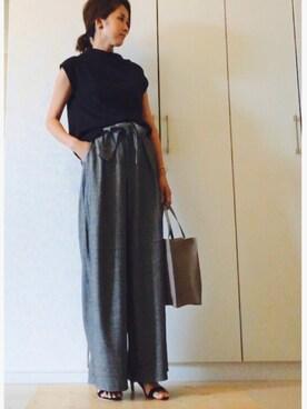 NAnaさんの「HASHIBAMI レザーバッグ◆(SLOBE IENA|スローブイエナ)」を使ったコーディネート