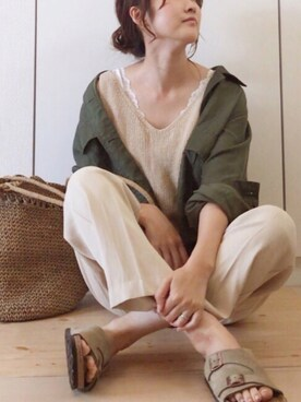 NAnaさんの「CB C/CU/L MRTY SH ジャケット ◆(green label relaxing|グリーンレーベルリラクシング)」を使ったコーディネート