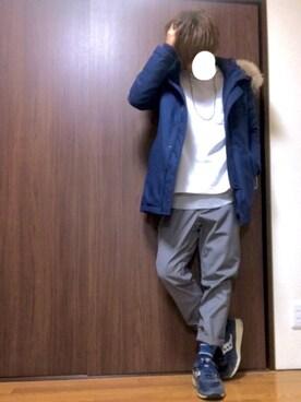 taichiさんの「スクリューブラスネックレス(HARE)(HARE)」を使ったコーディネート