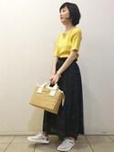森井さんの「《予約》ドット ジャージーマキシスカート◆(SHIPS for women|シップスフォーウィメン)」を使ったコーディネート
