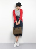 YUKIさんの「スパンライクチノスカート◆(SLOBE IENA|スローブイエナ)」を使ったコーディネート