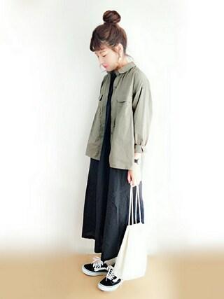 「ミリタリーBIGシャツ(CIAOPANIC TYPY)」 using this Suuu * looks