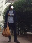 jojkさんの「◇ストレッチフラノSLIM TAPERED(EDIFICE|エディフィス)」を使ったコーディネート