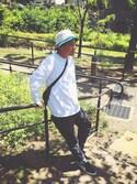 Hanaさんの「MEN ドライストレッチスウェットパンツ(ユニクロ|ユニクロ)」を使ったコーディネート