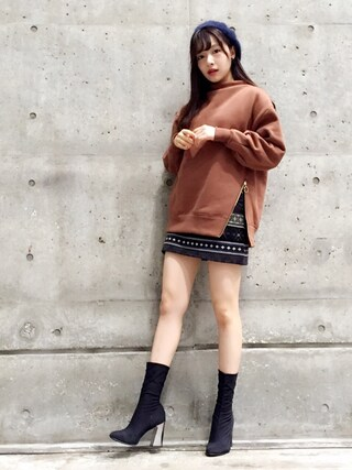 「BASIC MOHAIR BERET(MOUSSY)」 using this 村瀬紗英 looks