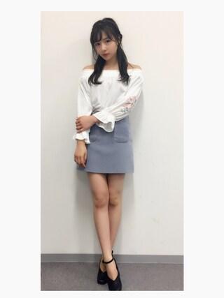 村瀬紗英さんの「2ポケットミニマルスカート(DHOLIC|ディーホリック)」を使ったコーディネート