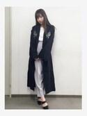 村瀬紗英さんの「backヘムスリットテ-パードパンツ(MURUA ムルーア)」を使ったコーディネート