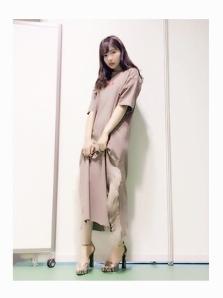 「ROUND ANKLE PUMPS(SLY)」 using this 村瀬紗英 looks