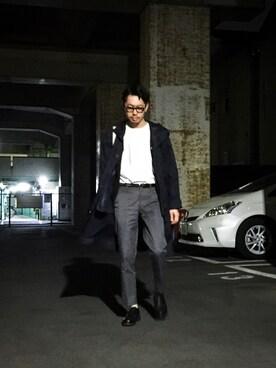 WEB事業部|エグチさんのパンツ「DOORS Tight Fit Trouser(URBAN RESEARCH DOORS MENS|アーバンリサーチ ドアーズ メンズ)」を使ったコーディネート
