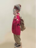 ぷぷこ  ༘*さんの「ソフトシェットランド バックコクーンカーディガン(CHILD WOMAN|チャイルドウーマン)」を使ったコーディネート