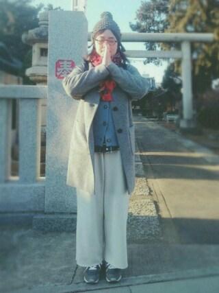 リーちゃんさんの「裏起毛ワイドパンツ【niko and ...】(niko and...|ニコアンド)」を使ったコーディネート